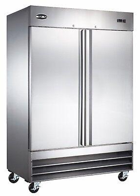 Saba Commercial Upright Freezer Stainless Steel Freezer Storage 2 Solid Doors