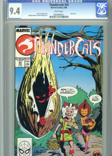 Thundercats 24 CGC 9.4 White Pages