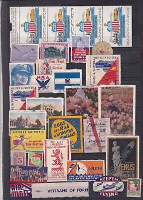 0024 Cinderellas  USA Nice lot of stamps see scan