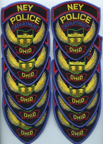 NEY OHIO OH Trade Stock 10 Police Patches POLICE PATCH