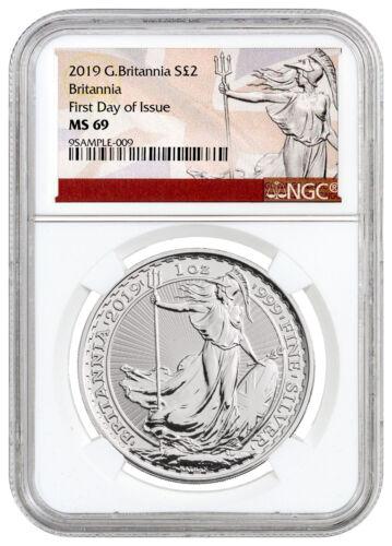 2019 Great Britain 1 oz. Silver Britannia £2 Coin NGC MS69 FDI SKU55931