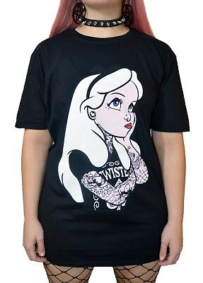 Punk Disney Alice In Wonderland Tattoo T Shirt gothic rockabilly emo pinup scene