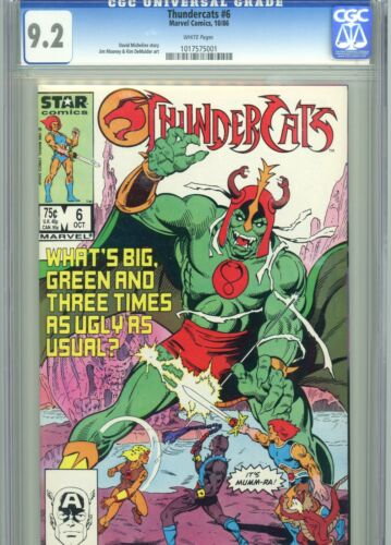 Thundercats 6 CGC 9.2 White Pages