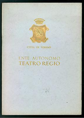CITTA' TORINO ENTE AUTONOMO TEATRO REGIO STAGIONE LIRICA GENNAIO MAGGIO 1968