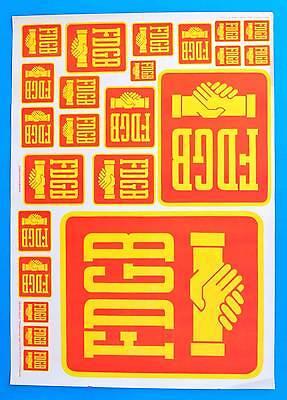 DDR Plakat Poster 1253 | FDGB 1974 DEWAG Halle | 86 x 61 cm Original