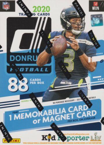 2020 Donruss Football sealed blaster box 11 packs of 8 NFL cards