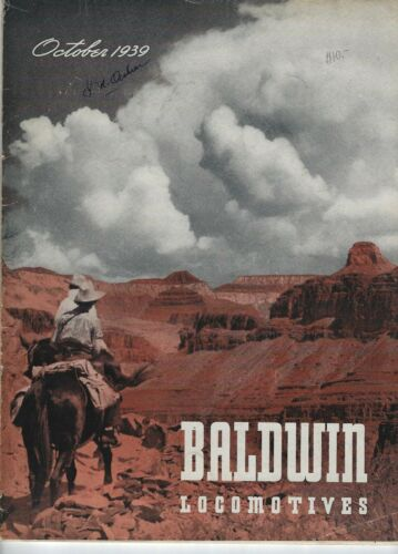 Baldwin Locomotives Magazine October 1939 Vintage Railroad