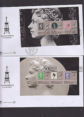 GB 2017 Machin Anniversary PSB Prestige Stamp Booklet set 5 full pane Stuart FDC