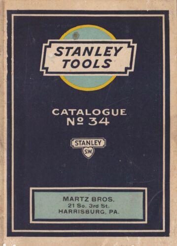 1926 Stanley Tool Catalogue No. 34