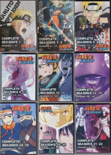 Naruto Shippuden Episodes 1-500  Complete Series English Dub on 54 DVDs