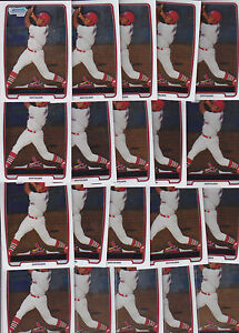 Lot of 20 2012 Bowman Chrome Oscar Taveras Rookie Cards - All Chrome - Cardinals