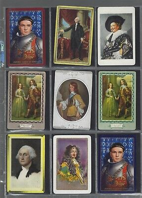 PLAYING *SWAP *CARDS*CHEAP AS CHIPS!! 9x WORLD  FAMOUS  MALES GENTS MEN OF - Cheap Playing Cards