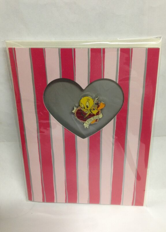 Looney Tunes Tweety the Love Bird Collectible Pin Card & Envelope New