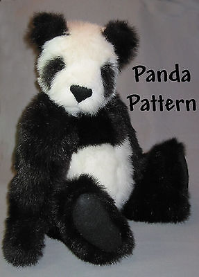 "Mohair/Plush ""Panda"" Teddy Bear PATTERN by Neysa A. Phillippi of Purely Neysa"