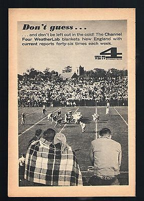 1962 Wbz Tv Ad Weatherlab Boston Massachusetts New England Football Game Field