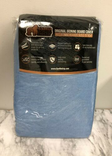 Gorilla Grip Reflective Silicone Ironing Board Cover,15x54, Fits Large &Standard