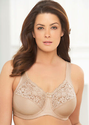 NEW Bra msrp $40 ~NO-POKE UNDERWIRE Cotton-Blend Comfort SUPPORT Nude CLEARANCE!