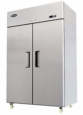 Atosa Mbf8002 Two Door Stainless Steel Commercial Freezer Upright Top Mount
