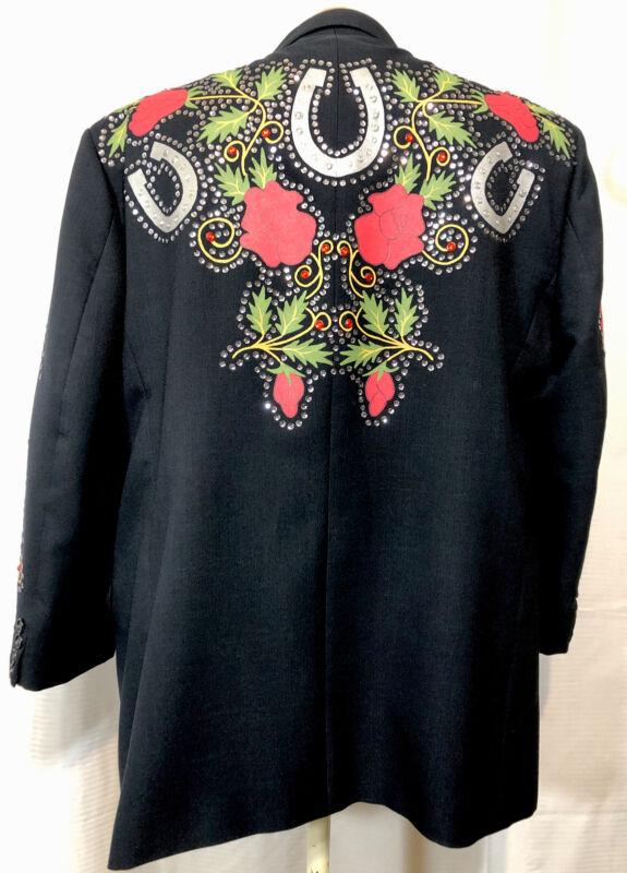 Men's BA Designs Western Swing Rockabilly Nudie Suit Insp. Jacket Ooak 46R