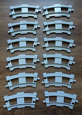 Lego Duplo Train track lot of 12 curved darker gray track good used condition