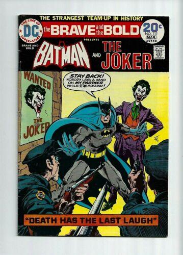 Brave And The Bold #111 FN+ 6.5 Joker! Batman!