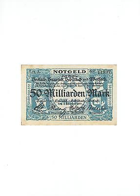 Rupertus 88.4a   Notgeldschein Städte Haslach, Hausach u.a. 50 Mrd Mk  1.11.1923