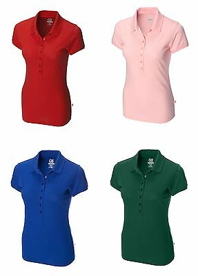 CUTTER BUCK Womens Ladies Golf SWEET SPOT SKINNY Polo Shirt > many colors