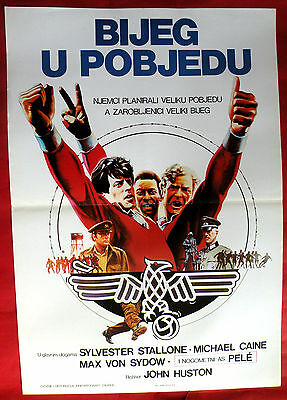 VICTORY 1981 MICHAEL CAINE PELE SYLVESTER STALLON JOHN HUSTON EXYU MOVIE POSTER