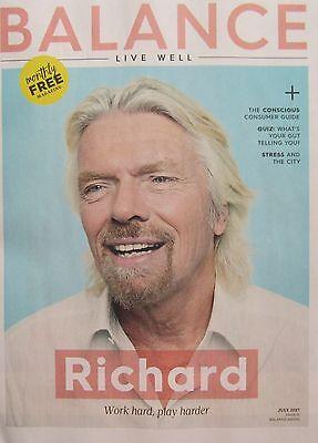 Richard Branson – Balance Magazine – July 2017