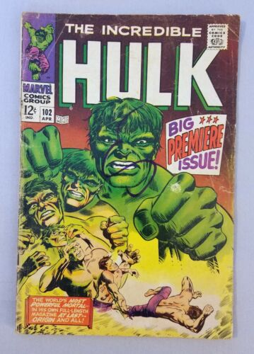 THE INCREDIBLE HULK #102, GD, Silver Age, 1968