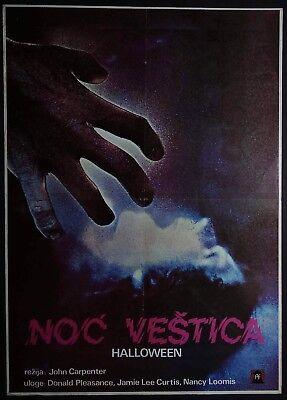 HALLOWEEN John Carpenter Jamie Lee Curtis Michael Myers 1978 YUGO MOVIE POSTER