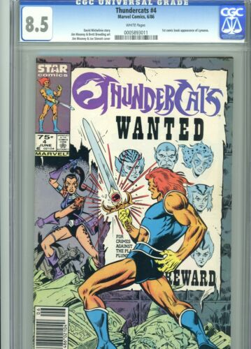 Thundercats 4 CGC 8.5 White Pages