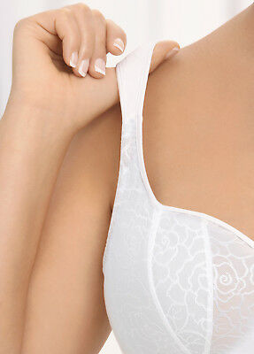 NEW DEMI Bra msrp $42 UNDERWIRE (Foam Padded Cups) WIDE-STRAPS White CLEARANCE!