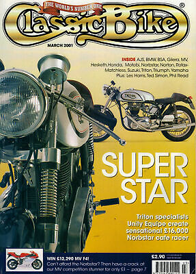 Classic Bike Magazine 2001 March Yamaha OW01 Motobi 125cc 2 Stroke Single 2717F for sale  Rushden