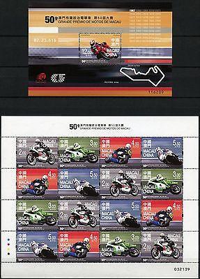Macau Macao 2016 Grand Prix Motorsport Motorräder Motorcycles Motorradrennen MNH