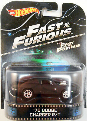 HOT WHEELS 2014 RETRO ENTERTAINMENT THE FAST & FURIOUS '70 DODGE CHARGER R/T