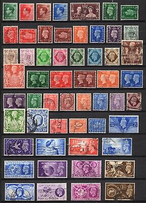 GB KGVI 1930's-50's to definitives & commemoratives selection