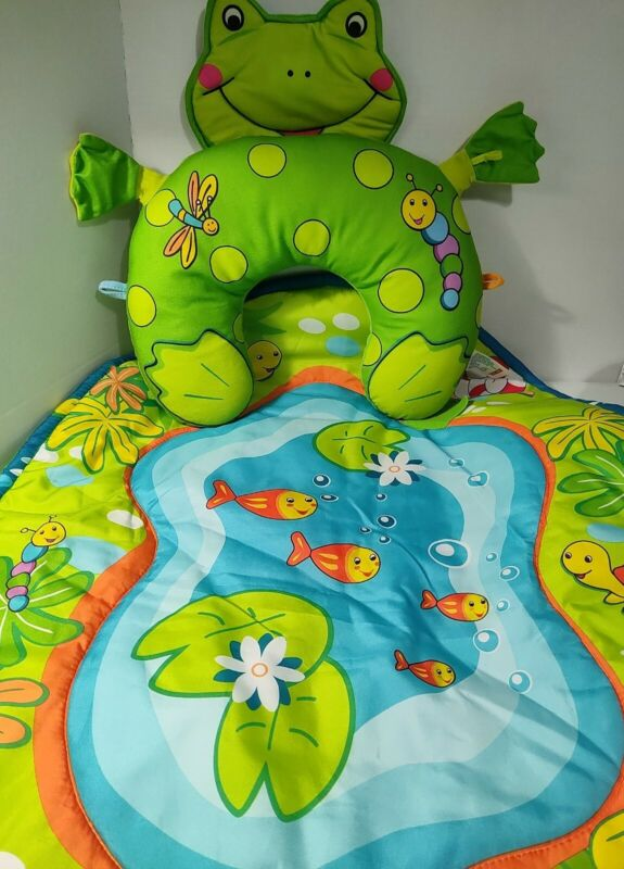 Tiny Love Tummy Time Play Mat Cute Frog And Friends