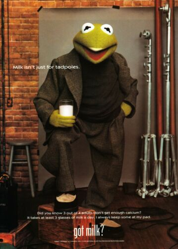 GOT MILK? AD 1999 KERMIT THE FROG ~ HENSON
