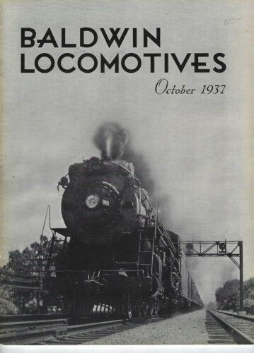 Baldwin Locomotives Magazine October 1937 Vintage Railroad