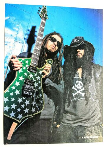 ROB ZOMBIE AND (J) JAY YUENGER / MAGAZINE FULL PAGE MAGAZINE PINUP CLIPPING (8)