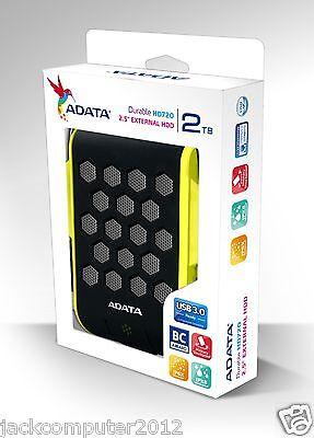 Brand New Adata DashDrive HD720 Waterproof USB 3.0 External Hard Drive 2TB Green