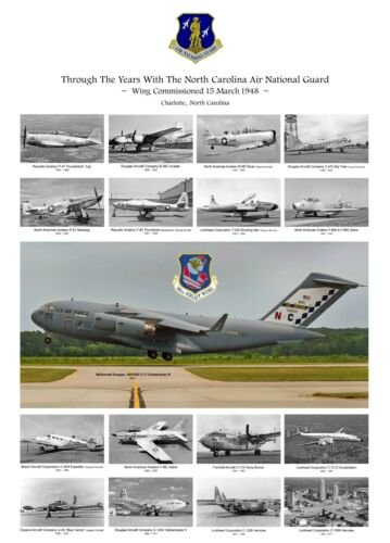 "USAF North Carolina ANG Fleet ((8.5""x11"")) Print"
