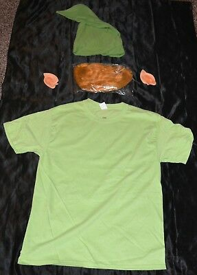 Link From Zelda Shirt Wig Ears & Hat Halloween Costume Adult Size: Medium M Mens - Link From Zelda Halloween Costumes