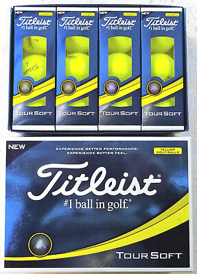 TITLEIST TOUR SOFT YELLOW GOLF BALLS 1X DOZEN BRAND NEW IN BOXES