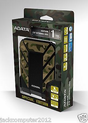 "ADATA HD710M 1 TB 2.5"" External Hard Drive Waterproof Dustproof Shockproof 1TB"