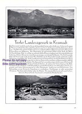 Sägewerk Kramsach Reklame 1927 Brandenberger Forst Tirol Österreich Werbung +