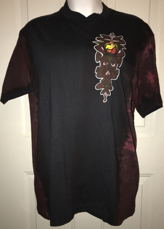 NWT Foghorn Leghorn shirt Top Rooster Black vintage 1990s XL Giant Looney Tunes
