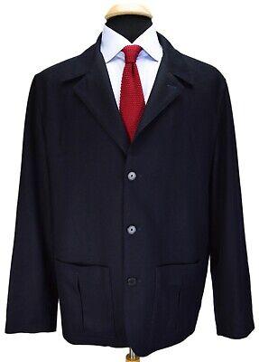 Camoshita United Arrows Navy Wool Chore Blazer Arrow Jacket EU 56 46 XL Japan