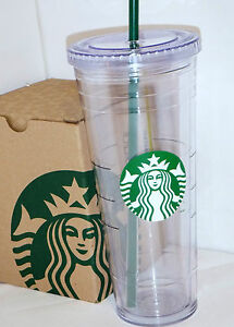 Starbucks Venti 24 oz Reusable Cold Cup New w Tag Tumbler Clear w Straw | eBay